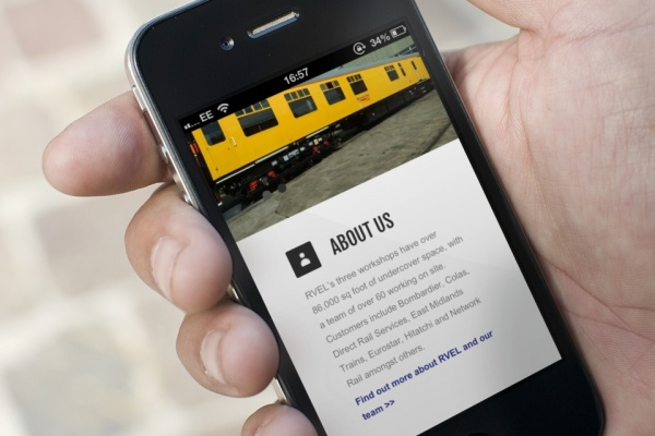 mobile friendly website on phone screen