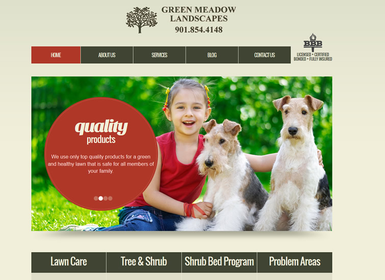 collierville lawn care website