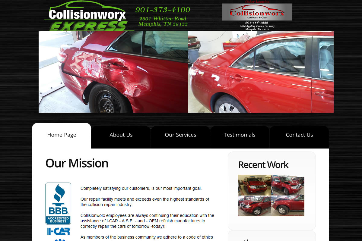 collisionworx.com web design
