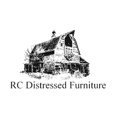 rc distressed furniture logo rustic barn