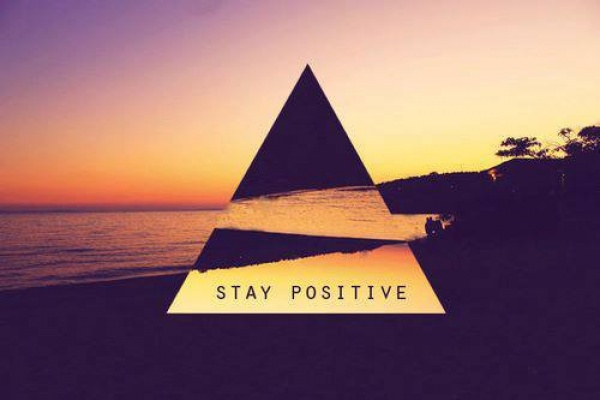 Positive vibes triangle beach
