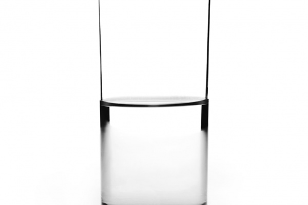 Glass of water half full