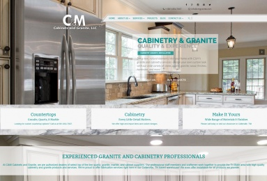 Mark up of the Home page of C&M granite